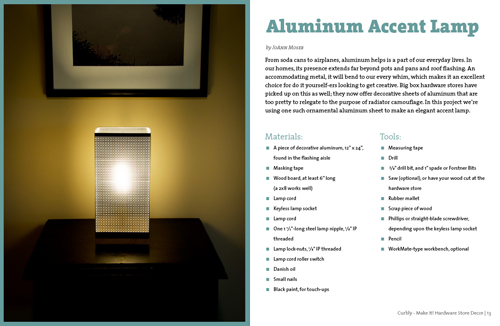 Aluminum Accent Lamp - from Curbly's Make It! Hardware Store Decor